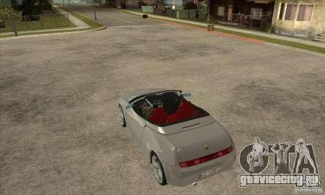 Alfa Romeo Spyder для GTA San Andreas вид сзади слева
