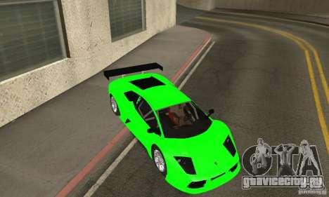 Lamborghini Murcielago R GT для GTA San Andreas вид снизу
