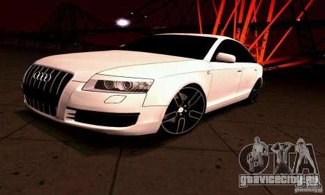 Audi A6 Blackstar для GTA San Andreas вид сзади слева