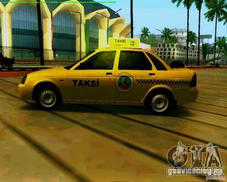 ВАЗ 2170 Priora Baki taksi для GTA San Andreas вид сзади слева