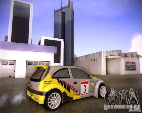Opel Corsa Super 1600 для GTA San Andreas вид сбоку