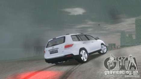 Toyota Highlander 2012 v2.0 для GTA 4 вид справа