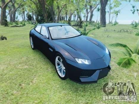 Lamborghini Estoque для GTA 4 вид сзади