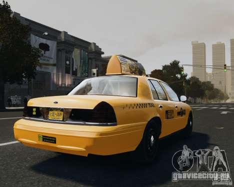Ford Crown Victoria NYC Taxi 2012 для GTA 4 вид сзади слева