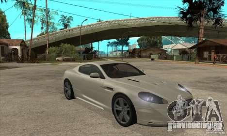 Aston Martin DBS для GTA San Andreas вид сзади