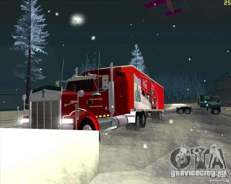 Прицеп для Coca Cola Trailer для GTA San Andreas вид слева