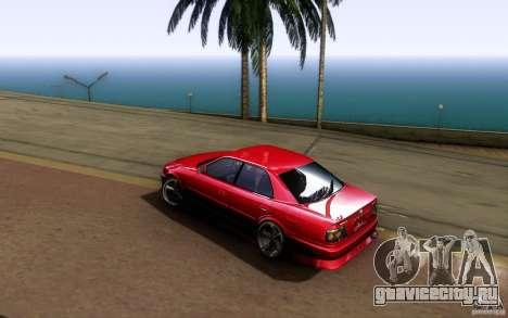 Toyota Chaser JZX100 для GTA San Andreas вид сзади