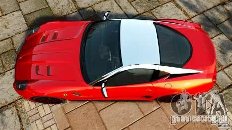 Ferrari 599 GTO 2011 для GTA 4 вид справа
