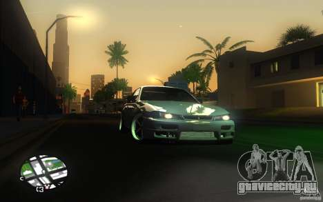 Nissan Silvia S14 для GTA San Andreas вид сверху