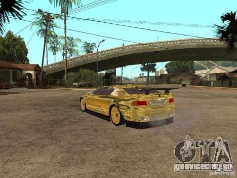 BMW M3 Goldfinger для GTA San Andreas вид слева