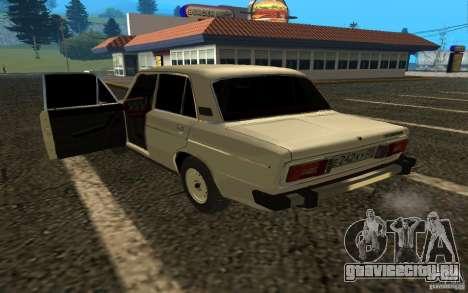 ВАЗ 2106 v.2 для GTA San Andreas вид сзади слева
