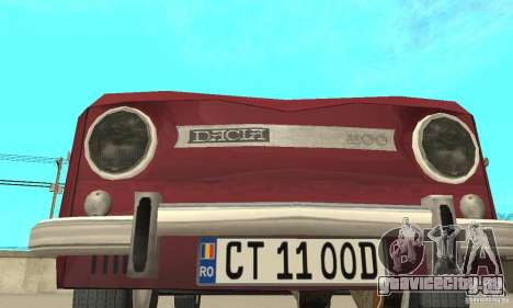 Dacia 1100 для GTA San Andreas вид сбоку