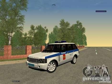 Range Rover Supercharged 2008 Полиция ГУВД для GTA San Andreas вид сбоку