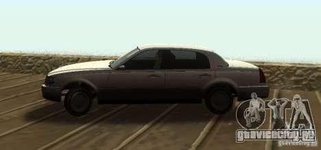 Washington из GTA IV для GTA San Andreas вид сзади слева
