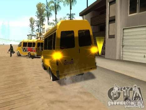 ГАЗель 2705 маршрутное такси для GTA San Andreas вид сзади слева