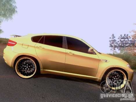 BMW X6M Hamann для GTA San Andreas вид сзади