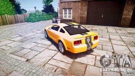Shelby GT 500 KR 2008 K.I.T.T. для GTA 4 вид сзади слева