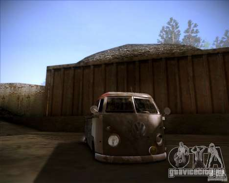 Volkswagen Transporter T1 rat pickup для GTA San Andreas вид сзади