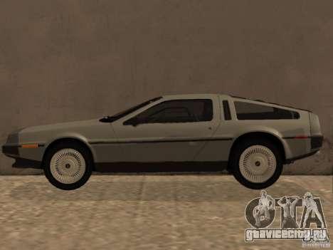 DeLorean DMC-12 для GTA San Andreas вид слева