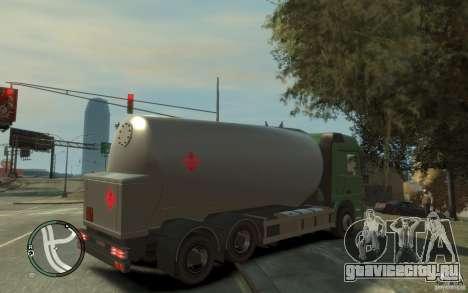 Mercedes Benz Actros Gas Tanker для GTA 4 вид снизу