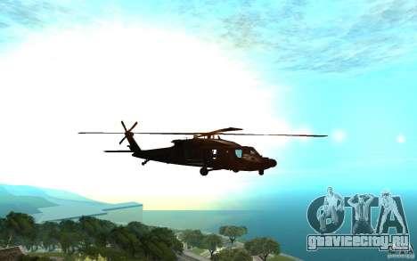 MH-60L Blackhawk для GTA San Andreas вид сзади слева