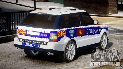 Range Rover Macedonian Police [ELS] для GTA 4 вид сверху