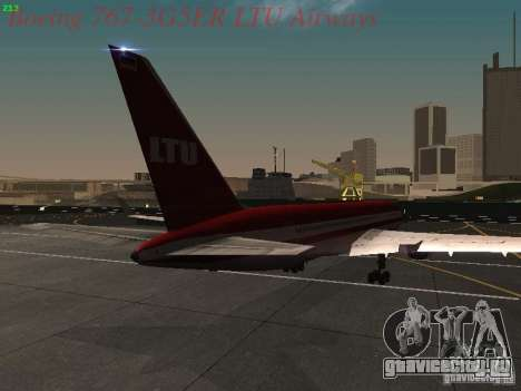 Boeing 767-3G5ER LTU Airways для GTA San Andreas вид справа