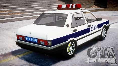 Tofas Sahin Turkish Police v1.0 для GTA 4 вид изнутри