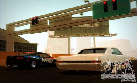 Pontiac GTO Drag Shark для GTA San Andreas вид сзади