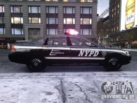 Chevrolet Impala 2006 NYPD Traffic для GTA 4 вид сзади слева