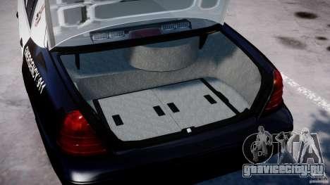 Ford Crown Victoria SFPD K9 Unit [ELS] для GTA 4 вид сбоку