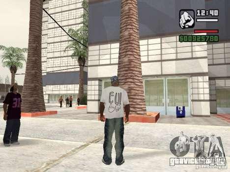 Футболка FUck для GTA San Andreas второй скриншот