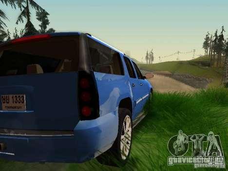 GMC Yukon Denali XL для GTA San Andreas вид снизу