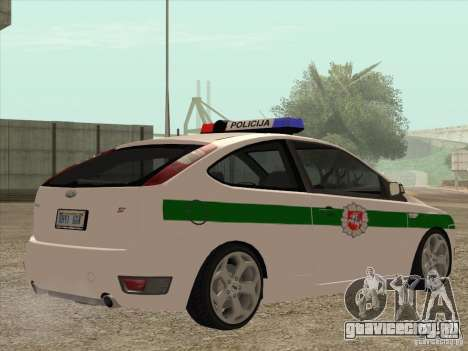 Ford Focus ST Policija для GTA San Andreas вид справа