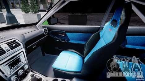Subaru Impreza STI Wide Body для GTA 4 вид сзади