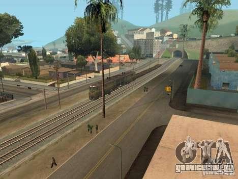 Тепловоз 2ТЭ10Л для GTA San Andreas вид сзади