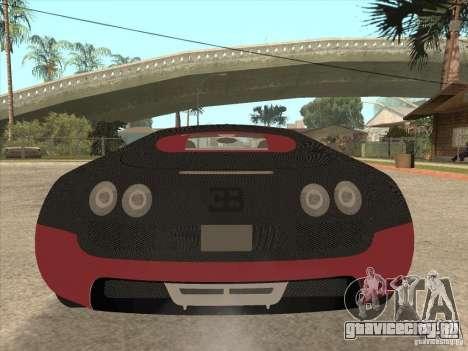 Bugatti Veyron Super Sport для GTA San Andreas салон