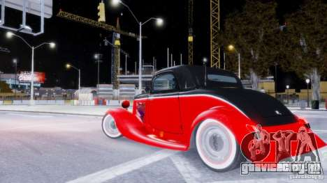 Ford Coupe 1934 для GTA 4 вид изнутри