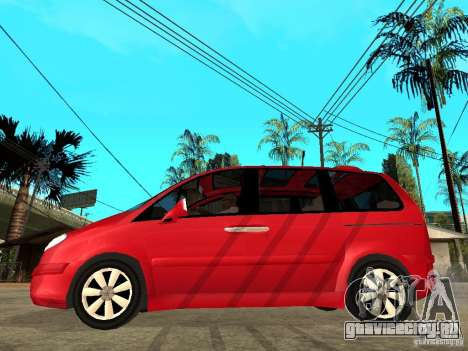 Citroen C8 для GTA San Andreas вид слева
