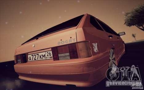 Ваз 2114 Juicy Orange для GTA San Andreas вид справа