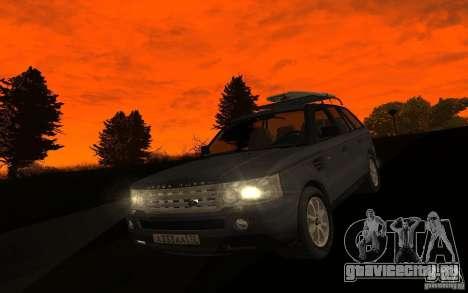 Land Rover Range Rover для GTA San Andreas вид изнутри