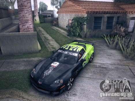 Chevrolet Corvette C6 Z06 Tuning для GTA San Andreas вид сбоку