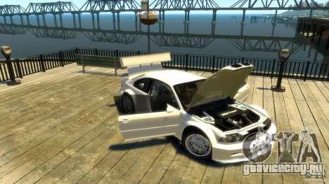 BMW E46 M3 GTR Sport для GTA 4 вид изнутри
