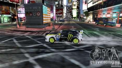 Subaru Impreza WRX STI Rallycross Monster Energy для GTA 4 вид сбоку