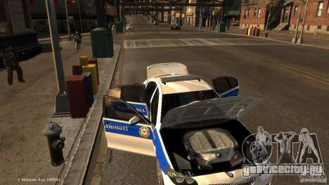 BMW 550i Azeri Police YPX для GTA 4 вид сверху