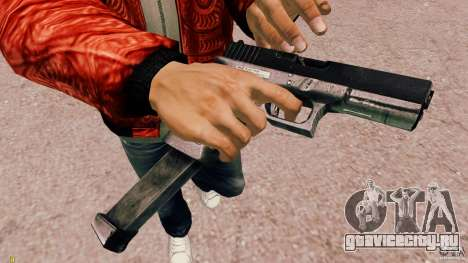 Glock 18 Akimbo (черно-серый) для GTA 4 второй скриншот
