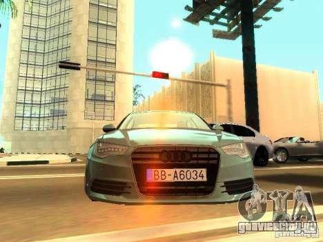 Audi A6 Stanced для GTA San Andreas вид сзади слева