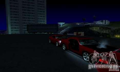 Dodge Challenger SRT8 2009 для GTA San Andreas вид снизу