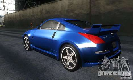 Nissan 350Z Varis для GTA San Andreas вид сзади слева