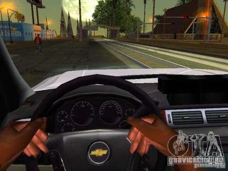 Chevrolet Silverado Rockland Police Department для GTA San Andreas вид изнутри